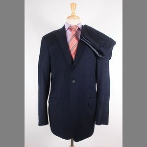 Hickey Freeman Mahogany 44L 37x31 Flat Front Suit